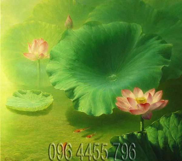 tranh hoa sen mã11