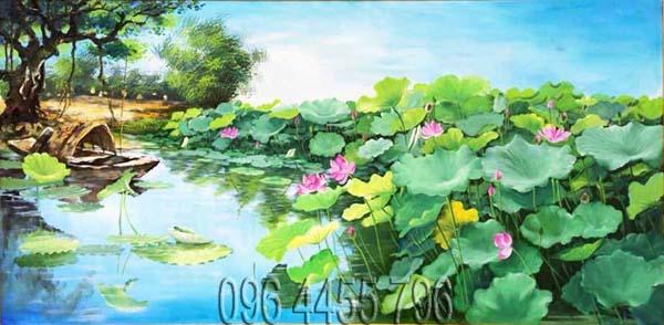 tranh hoa sen mã15