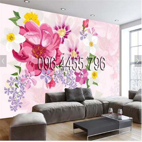 vẽ tranh tường phòng khách mã pk01