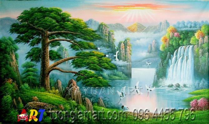 tranh vẽ sơn thủy