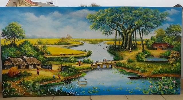 tranh phong cảnh làng quê ma 56