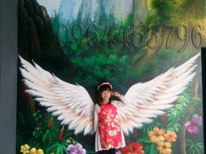 vẽ tranh tường 3d cánh chim