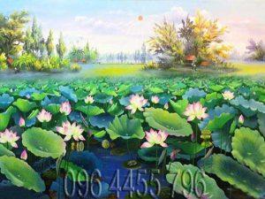 tranh hoa sen mã17