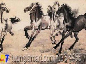 tranh ngựa phong thủy mã 03