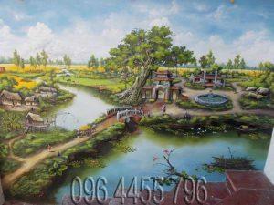 tranh phong cảnh đồng quê việt nam 10