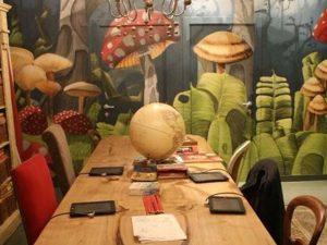 vẽ tranh tường 3d nhà hàng quán cafe
