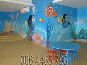 vẽ tranh tường mầm non MÃ17