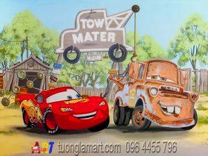 vẽ tranh tường ô tô cars 2 mã 05