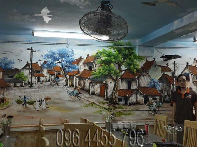 vẽ tranh tường phố cổ hà nội