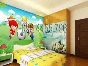 vẽ tranh tường phòng bé mã pb03