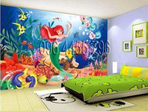vẽ tranh tường phòng bé mã pb04
