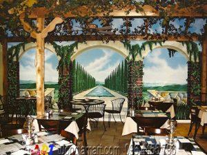 vẽ tranh tường phong cảnh 3d mã 013
