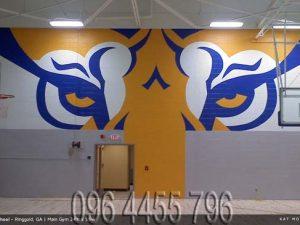 vẽ tranh tường phòng gym mã 01