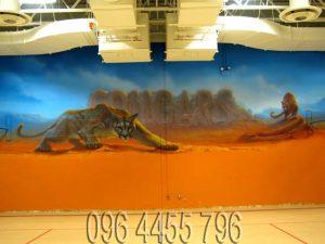 vẽ tranh tường phòng gym mã 11