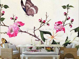 vẽ tranh tường phòng ngủ mã08