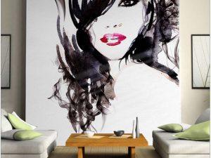 vẽ tranh tường salon tóc mã sl07