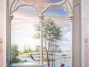 vẽ tranh tường salon tóc mã sl08